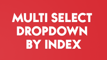 MULTI SELECT DROPDOWN BY INDEX