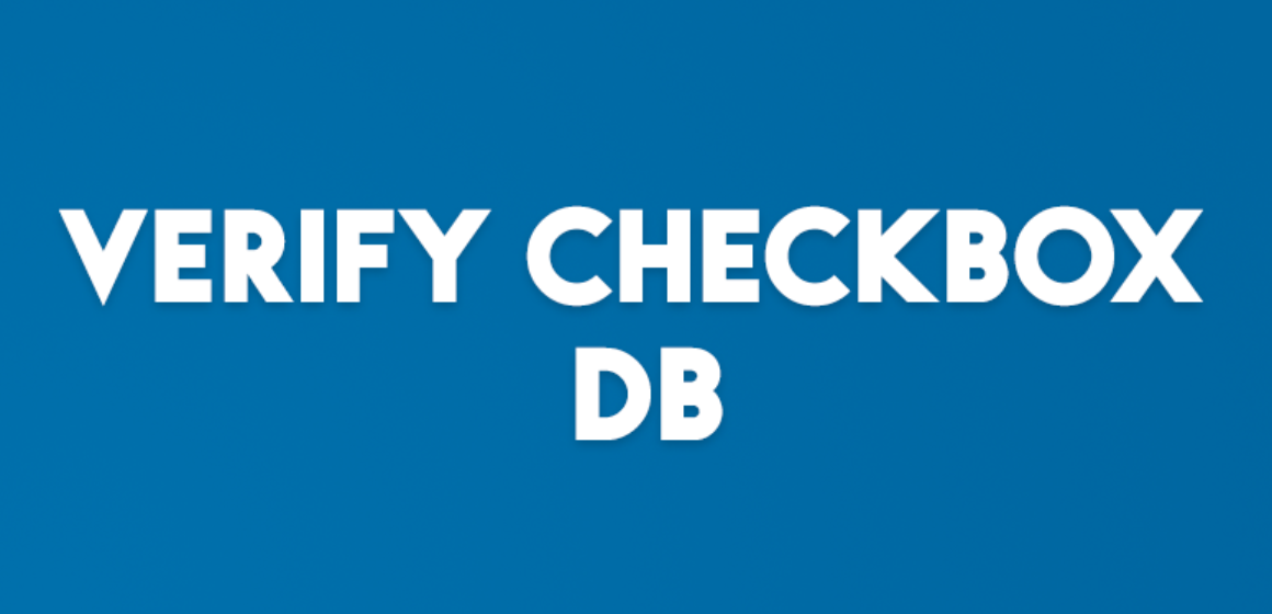 VERIFY CHECKBOX DB