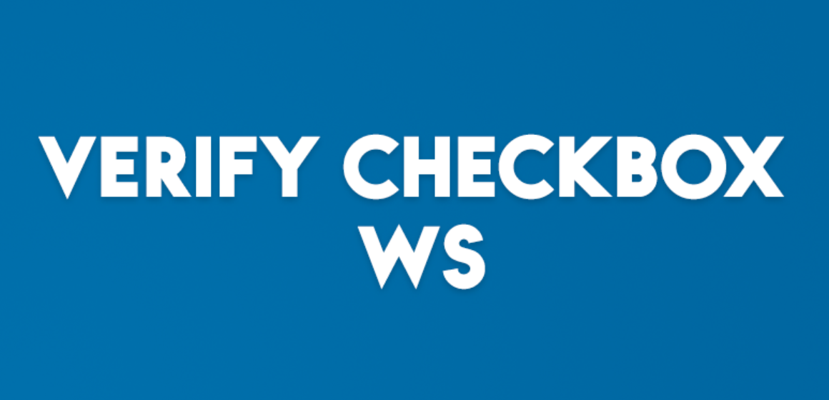 VERIFY CHECKBOX WS