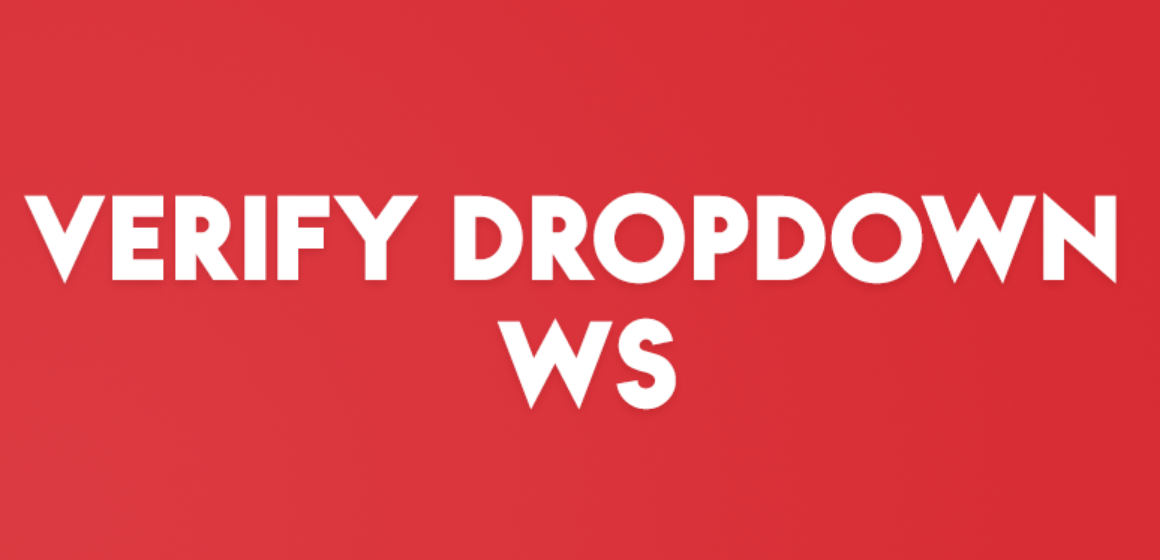 VERIFY DROPDOWN WS